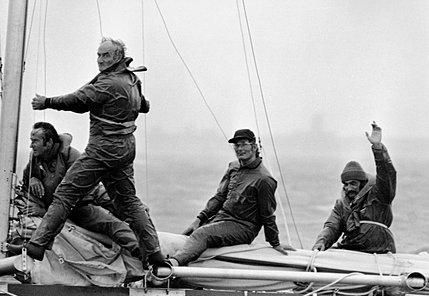 La ballesta y su tripulación de 4 hombres