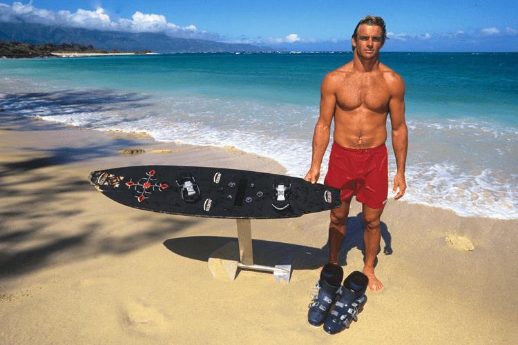 Pioneros del surf foil con, Laird Hamilton