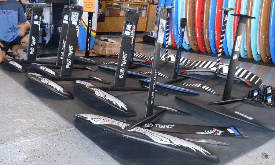 Varios tipos de alas para hydrofoil