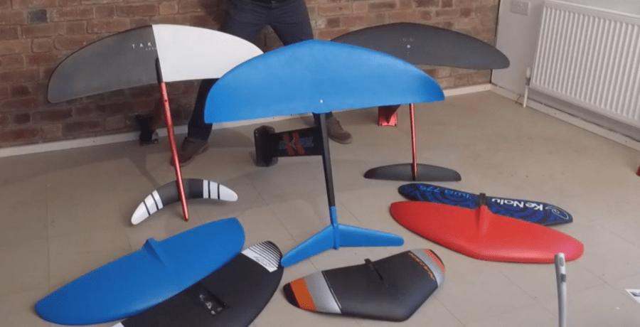 Varios tipos de hydrofoils