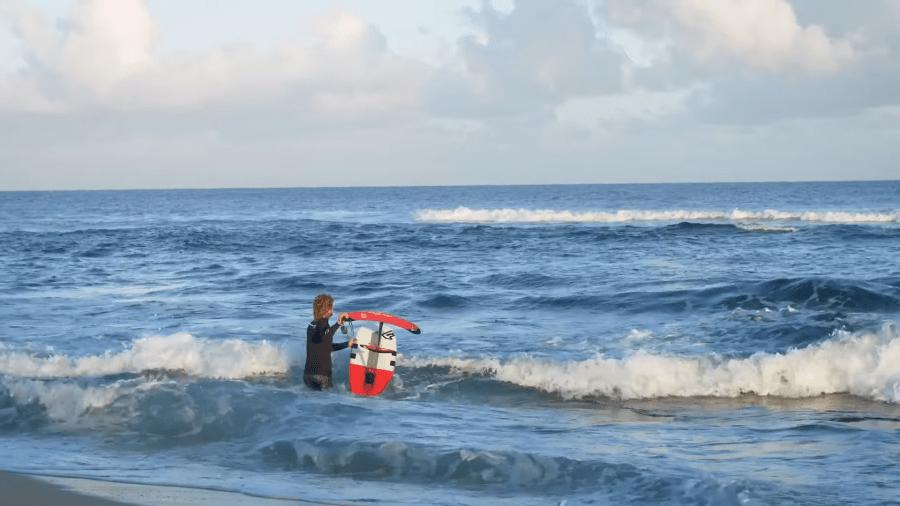 Empezar con hydrofoil surf