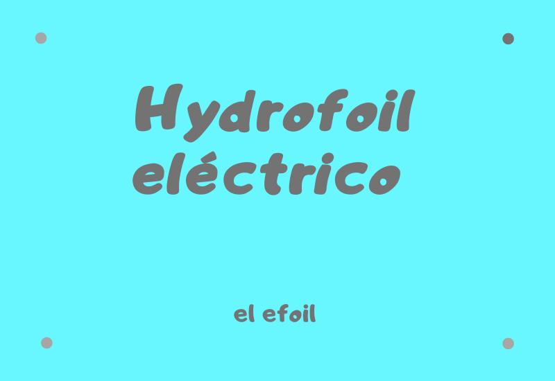hydrofoil eléctrico