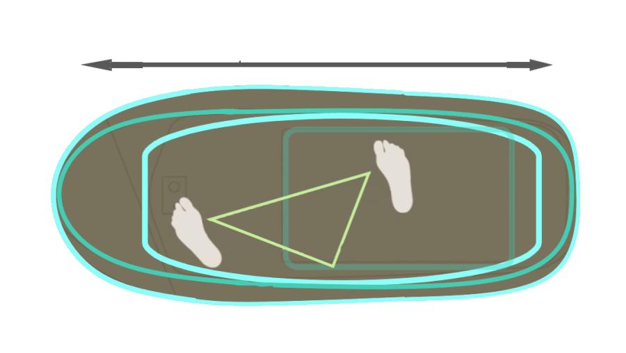 hydrofoil, largo de la tabla