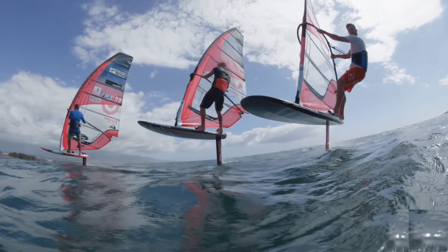 hydrofoil windsurf en Maui