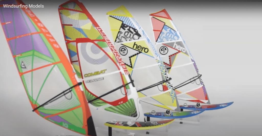 varios modelos velas para windfoil