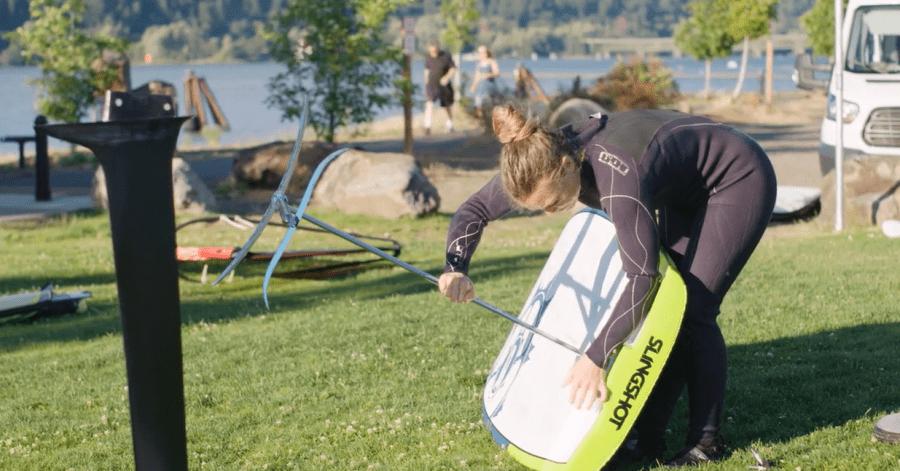 windfoil, configurando la tabla con el foil slingshot
